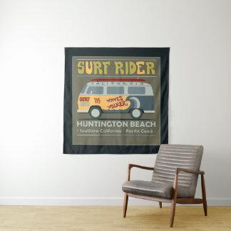 Tenture Murale Affiche de Huntington Beach de cavalier de surf