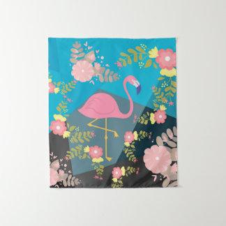 Tenture Murale Flamant floral Girly rose mignon chic à la mode
