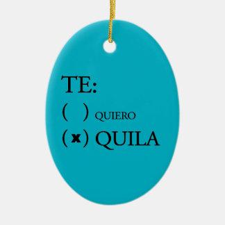 Tequila de Te Quiero Ornement Ovale En Céramique