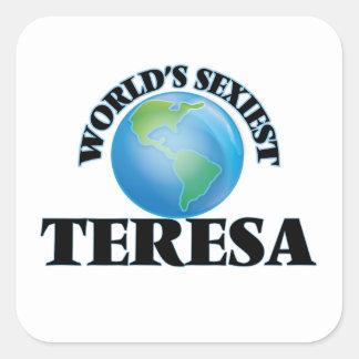 Teresa la plus sexy du monde stickers carrés