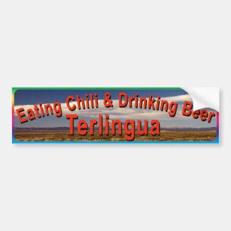 Terlingua mangeant le Chili Autocollant Pour Voiture