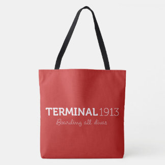 Terminal 1913 grand Fourre-tout rouge Tote Bag