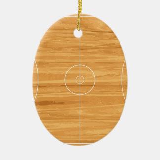 Terrain de basket ornement ovale en céramique