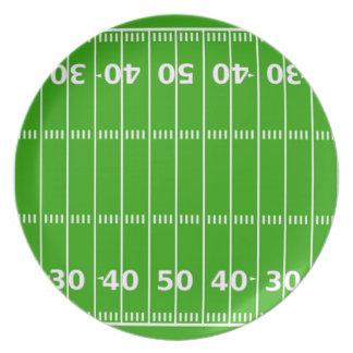 Terrain de football assiettes en mélamine