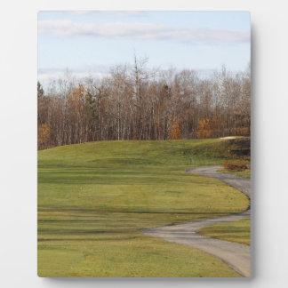Terrain de golf photos sur plaques