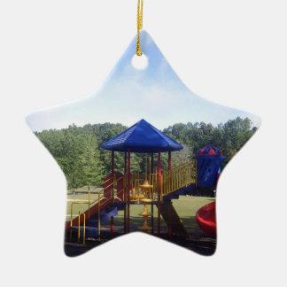 Terrain de jeu de parc ornement étoile en céramique