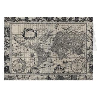 Terrarum de totius de nova, carte antique du monde