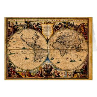 Terrarum vintage 1625 de totius de nova de carte