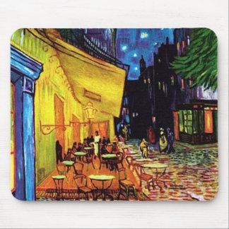 Terrasse de café à 1888) tapis de souris faits sur