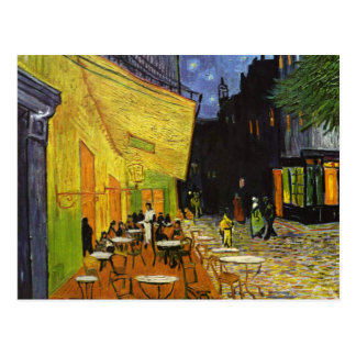 Terrasse de café à la carte postale de Van Gogh de