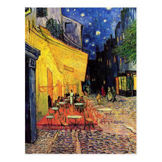 Terrasse de café de nuit de Van Gogh sur l'endroit Carte Postale