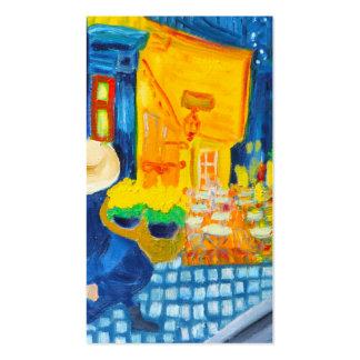 Terrasse de café de Van Gogh au carte de visite de