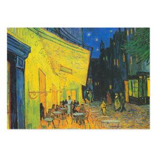 Terrasse de café de Van Gogh la nuit Cartes De Visite Professionnelles