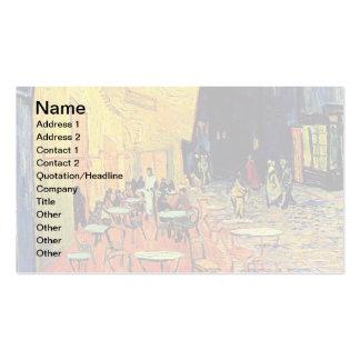 Terrasse de café de Van Gogh la nuit Carte De Visite