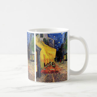 Terrasse de café de Van Gogh sur Place du Forum, Mug Blanc