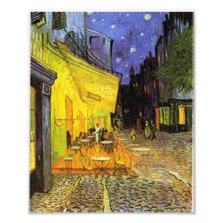 Terrasse de café de Vincent van Gogh à l'art de cr Photos D'art