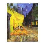 Terrasse de café de Vincent van Gogh à l'art de cr Toiles Tendues Sur Châssis