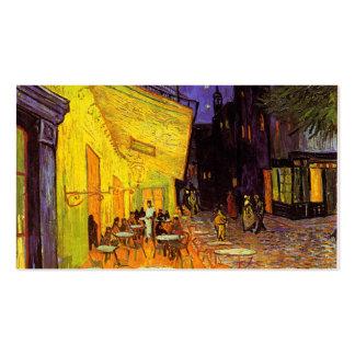 Terrasse de café de Vincent van Gogh aux Carte De Visite Standard