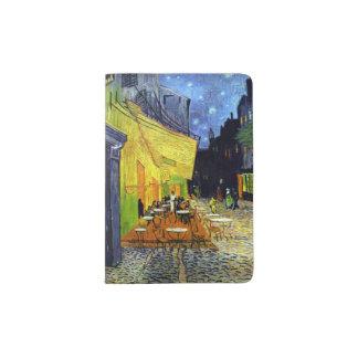 Terrasse de Café la nuit par des beaux-arts de Van Protège-passeport