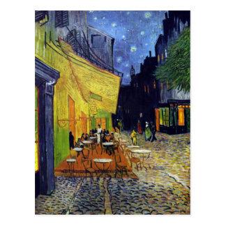 Terrasse de café la nuit par Vincent van Gogh 1888 Carte Postale