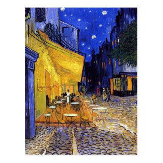 Terrasse de café la nuit par Vincent van Gogh Carte Postale