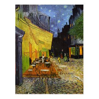 Terrasse de café la nuit Van Gogh Carte Postale