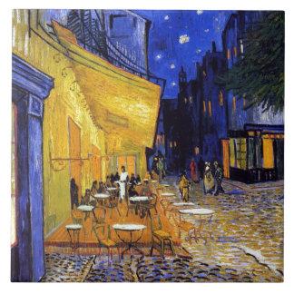 Terrasse de café par Vincent van Gogh Grand Carreau Carré