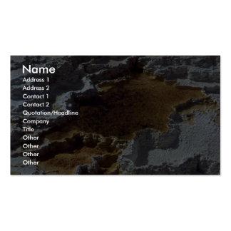 Terrasse de sulpher de Hot Springs Carte De Visite Standard