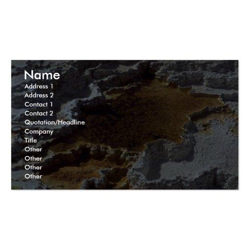 Terrasse de sulpher de Hot Springs Cartes De Visite Personnelles