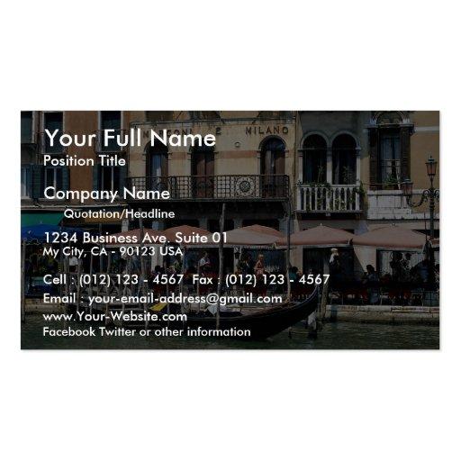 Terrasse reculée de café, Venise, Italie Modèles De Cartes De Visite