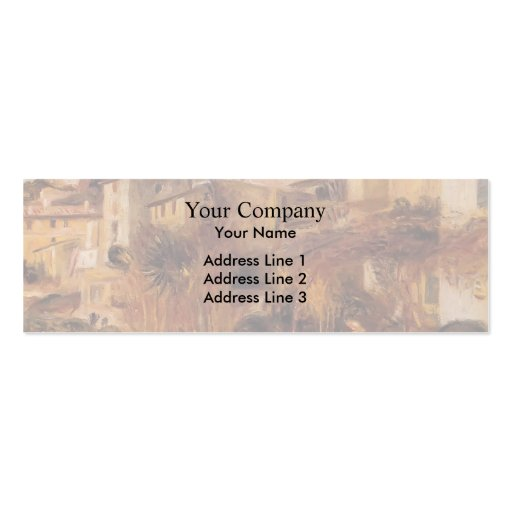 Terrasses de Pierre-Auguste Renoir- chez Cagnes Carte De Visite