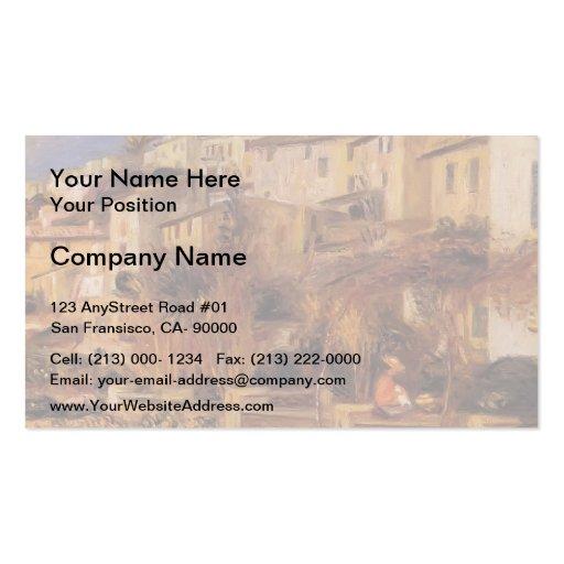 Terrasses de Pierre-Auguste Renoir- chez Cagnes Modèle De Carte De Visite