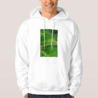 Terrasses vertes de riz, Philippines Veste À Capuche