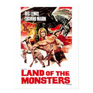 Terre de la carte postale de monstres