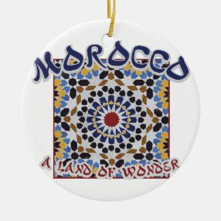 Terre du Maroc de merveille Ornement Rond En Céramique