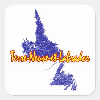 Terre-Neuve et Labrador Sticker Carré