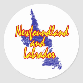 Terre-Neuve et Labrador Sticker Rond