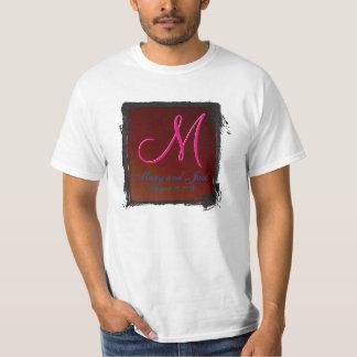 Terre-ton du monogramme 3d rouge sang t-shirt