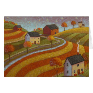 Terres cultivables d'automne cartes de vœux
