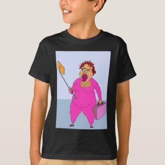 Terriens absurdes - Suzie avec le T-shirt de bâton