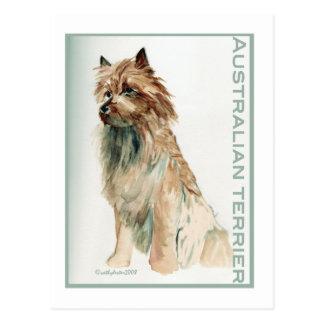 Terrier australien se reposent carte postale