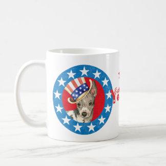 Terrier chauve américain patriotique mug