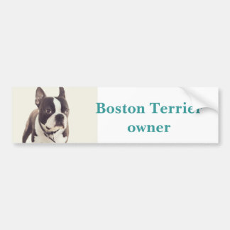 terrier de Boston Autocollant Pour Voiture