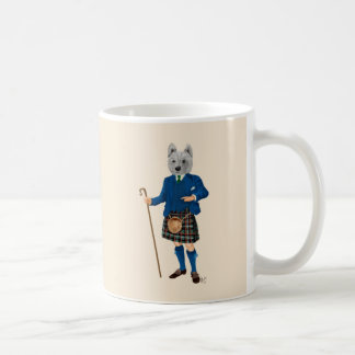 Terrier des montagnes occidental dans le kilt 2 mug