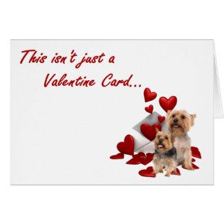 Terrier soyeux nous Wuf vous Valentine Carte De Vœux