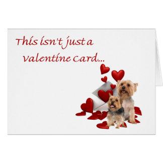 Terrier soyeux soit notre Valentine Cartes