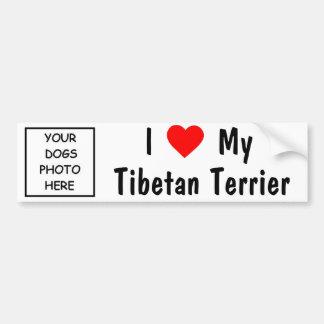 Terrier tibétain autocollant pour voiture
