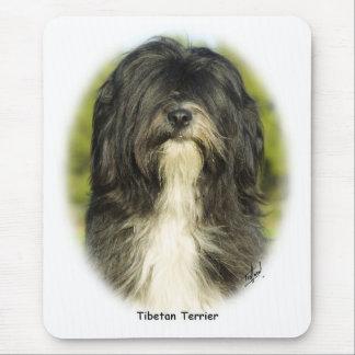 Terrier tibétain tapis de souris