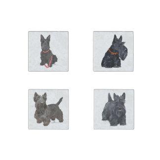 Terriers écossais magnet en pierre