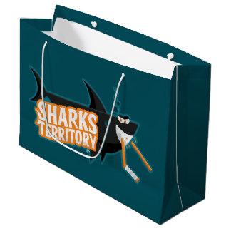 Territoire de requins - grand sac de cadeau